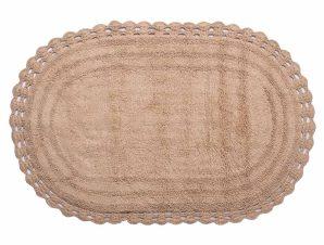 Πατάκι Μπάνιου (60×100) Silk Fashion Οβάλ Μπεζ