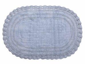 Πατάκι Μπάνιου (60×100) Silk Fashion Οβάλ Σιέλ