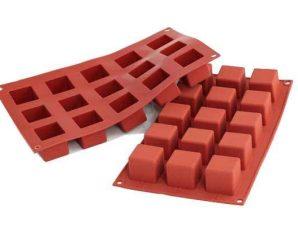 Φόρμα Σιλικόνης Silikomart Cubes 15 θέσεων