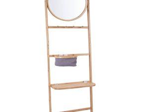 Κρεμάστρα Με Καθρέπτη LM1965 172×48,5cm Natural Leitmotiv Bamboo