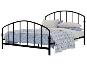 Κρεβάτι Για Στρώμα 150x200cm Baya Black 200x150x107cm 15-0138 Διπλό