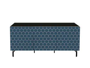 Μπουφές Bee Black-Blue 140x40x70cm 05-0350