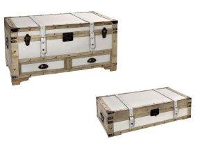 Μπαούλο Σετ 2Τμχ ZAP305 90x45x45,5cm White Espiel