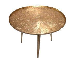 Τραπεζάκι Σαλονιού DUG209 57x57x48cm Gold Espiel