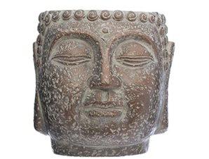 Κασπώ Βούδας 07.168504 Φ17,5cm Brown Τσιμέντο