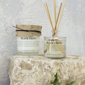 Nima Σετ Αρωματικό Χώρου με Στικ 100ml & Αρωματικό Κερί 130gr Black Peony