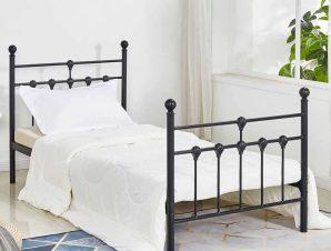 Κρεβάτι HM574.01 190Χ90cm Black Μονό