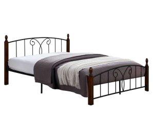 Κρεβάτι Suzie HM585 Για Στρώμα 150Χ200cm Wallnut Διπλό