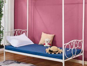 Κρεβάτι Με Ουρανό HM572.02 190Χ90cm White Μονό