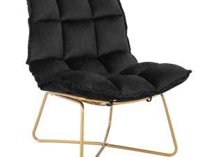 Πολυθρόνα Dejana HM8632.04 65x90x90cm Black-Gold