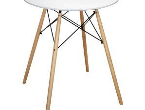 Τραπέζι Minimal HM0060.01 Φ60Χ72Υcm White-Beech