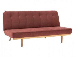 Καναπές-Κρεβάτι Τριθέσιος HM3168.02 193Χ85Χ88Υcm Dusty Pink