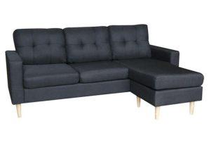 Καναπές Γωνιακός (Αναστρέψιμη Γωνία) Liana S 40.0067 185Χ126Χ85cm Black