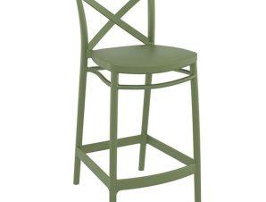 Σκαμπό Cross 20.0618 45Χ50Χ96cm Olive Green Siesta