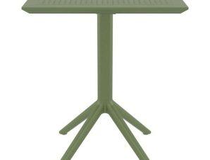 Τραπέζι Πτυσσόμενο Sky 20.0291 60X60X74cm Olive Green Siesta