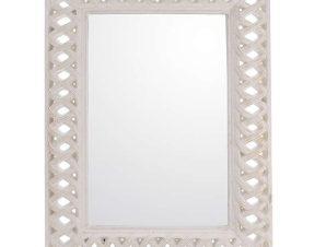 Καθρέπτης Τοίxου Αντικέ 3-95-261-0132 White 93x6x123 Inart Πολυπροπυλένιο