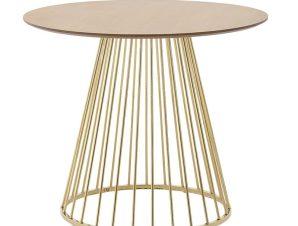Τραπέζι 3-50-224-0010 90Χ75 Gold-Natural Inart