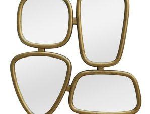 Καθρέπτης Τοίχου 3-95-641-0161 80Χ4Χ80 Gold Inart Polyresin