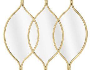 Καθρέπτης Τοίχου 3-95-161-0043 69Χ3Χ72 Gold Inart Μέταλλο