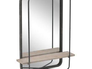 Καθρέπτης Τοίχου 3-95-407-0001 50Χ16Χ65 Black Inart Μέταλλο,Ξύλο