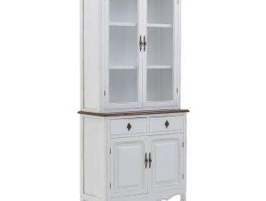 Βιτρίνα 3-50-482-0129 88X30X190cm White-Natural Inart