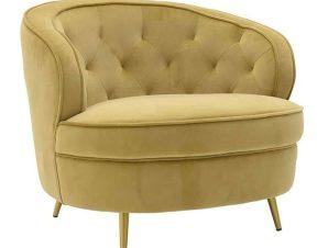 Πολυθρόνα 3-50-466-0076 80Χ77Χ70/44cm Gold Inart