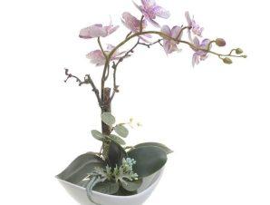 Διακοσμητικό Λουλούδι Σε Γλάστρα 3-85-246-0201 Υ38cm Green-Pink Inart Χαρτί