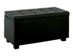 Σκαμπό- Ταμπουρέ Με Αποθηκευτικό Χώρο Denise Ε7048,3 88x43x45cm Black