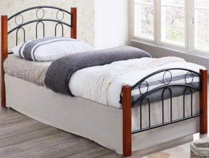 Κρεβάτι Διπλό Norton Ε8109 165x211x79/160x200cm Black Walnut Διπλό