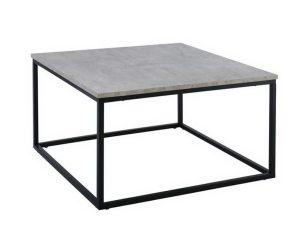 Τραπεζάκι Σαλονιού Texas ΕΜ745 80x80x45cm Black-Cement