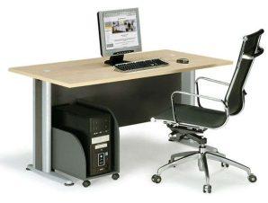 Γραφείο Basic ΕΟ996 120x80x75cm Dark Grey-Beech