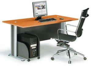 Γραφείο Basic ΕΟ997,1 150x80x75cm Dark Grey-Cherry