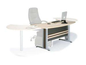 Γραφείο Executive ΕΟ999Γ 180x80x75cm Dark Grey-Beech