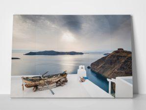 Πίνακας BEAUTIFUL SUNSET ON SANTORINI ISLAND GREECE