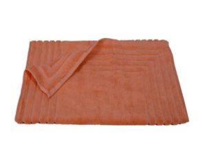 Homeline 856 Ταπέτο Ζακάρ Ρίγα 100% Cotton 50×75 Εκρού Κοραλί – Coral