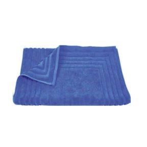 Homeline 856 Ταπέτο Ζακάρ Ρίγα 100% Cotton 50×75 Μπλε – Μπλε